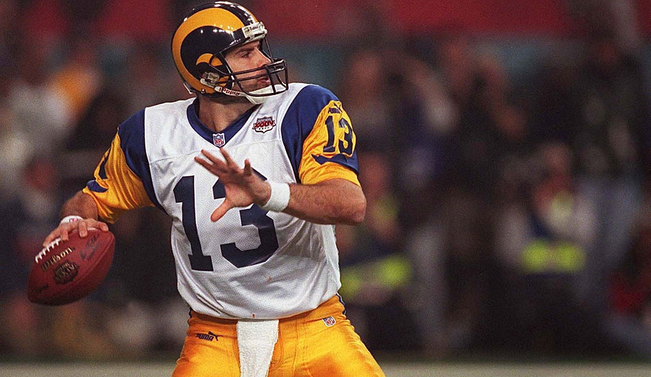 Kurt Warner (Quarterback, 1998-2009): In seiner durchaus wechselhaften Karriere war er zweimal MVP, Super Bowl MVP und Walter Payton Man of the Year (2008). Der Kopf der Greatest Show on Turf