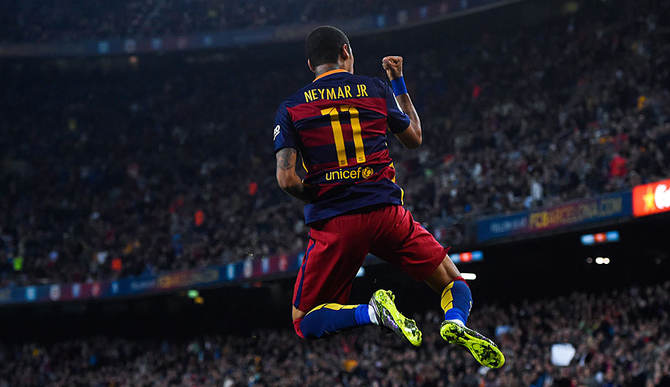 ANGRIFF: Neymar (FC Barcelona, 13 Spiele, 4 Tore, 7 Assists)