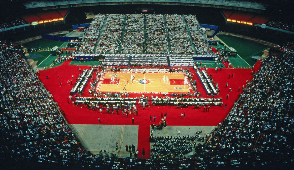 Ungewohntes Setting beim All-Star Game 1989 in Houston.