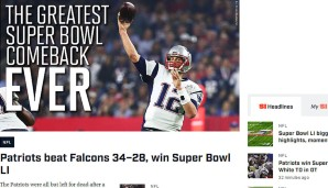 "Sports Illustrated: Eine klare Message gibt's auch in der Sports Illustrated - ""Das großartigste Comeback in der Geschichte des Super Bowls"""