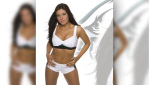Krystle Howard: Ehefrau von First Baseman Ryan Howard (Philadelphia Phillies). Das Bild verrät: Krystle ist Cheerleaderin des NFL-Teams Philadelphia Eagles