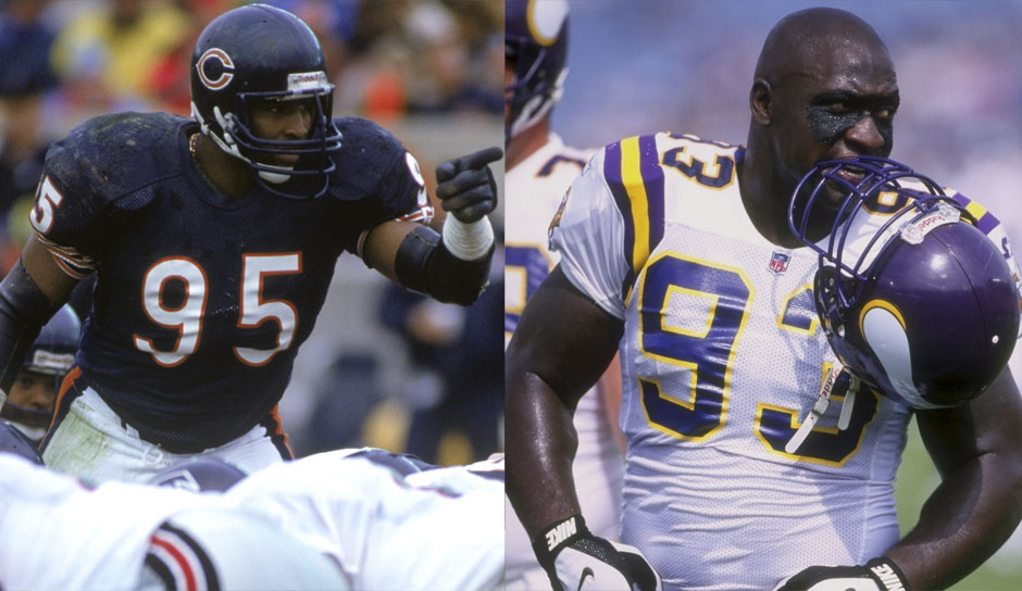 9.: Richard Dent (1983 - 1997) und John Randle (1990 - 2003): Beide 137,5 Sacks
