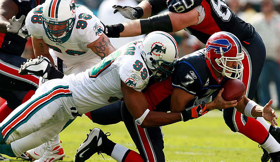 7.: Jason Taylor (1997 - 2011): 139,5 Sacks