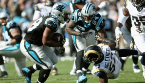 Running Back, STARTS: Jonathan Stewart, Carolina Panthers (vs. Kansas City Chiefs): Stewart war in den letzten Wochen eine TD-Maschine für die Panthers. Und die Chiefs-Defense lässt 4,8 Yards pro Carry zu (Platz 30 in der Liga)