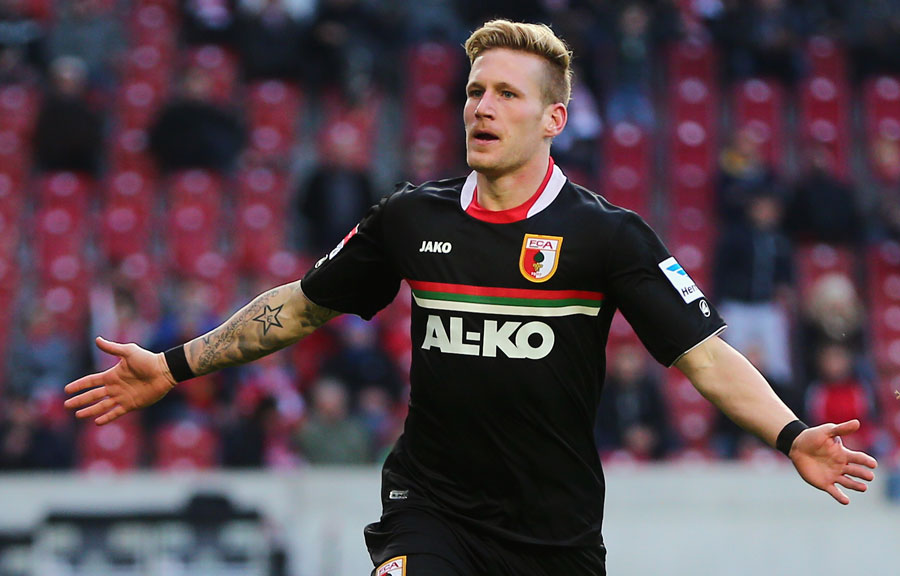 Rang 14: Andre Hahn vom FC Augsburg (12 Tore)