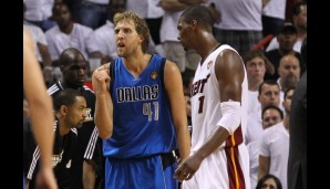In den Finals 2011 waren die Mavs der Underdog gegen die Big Three vom South Beach, Chris Bosh, Dwayne Wade und LeBron James. Doch jubeln durften am Ende...