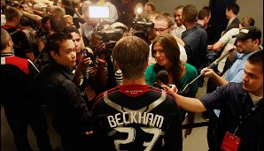 Medienrummel in Hollywood: Becks war eine neue Attraktion