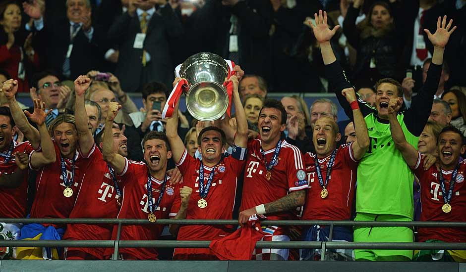 Es ist der Höhepunkt einer perfekten Saison für die Bayern. Jupp Heynckes verabschiedet sich mit dem Triple