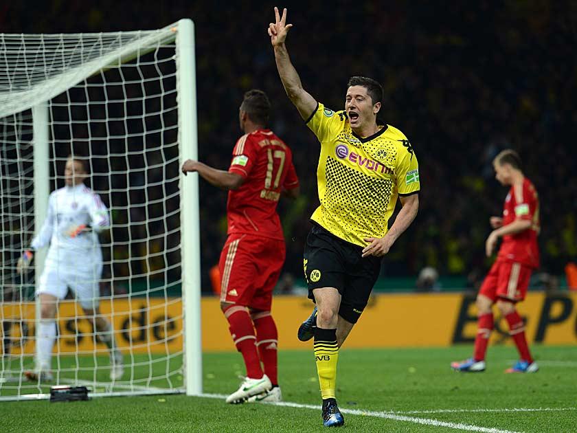 Robert Lewandowski ist mit drei Treffern an der Demütigung des Rekordmeisters maßgeblich beteiligt