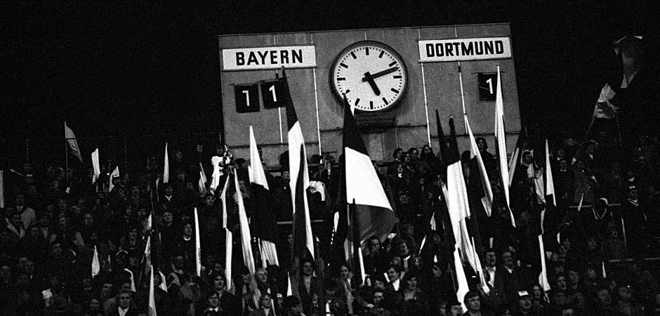 Die Anzeigetafel im Gründwalder Stadion. Das 11:1 ist bis heute der höchste Bundesliga-Sieg des FC Bayern