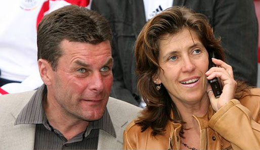 Dieter Hecking with beautiful, cute, Wife Kerstin Hecking