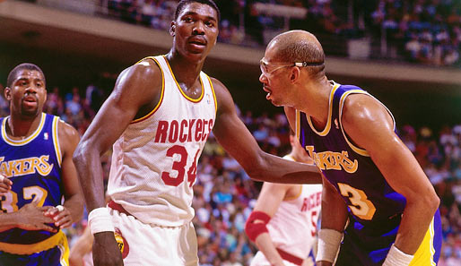 "Bei den Lakers spielte Kareem gegen eine andere Center-Legende. Hakeem ""The Dream"" Olajuwon"