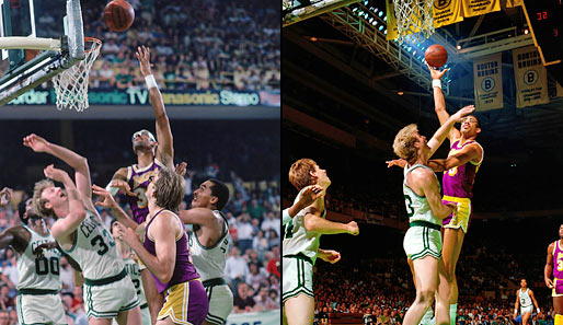 1985 kämpften die Lakers um Kareem die Celtics um Larry Bird in den Finals nieder