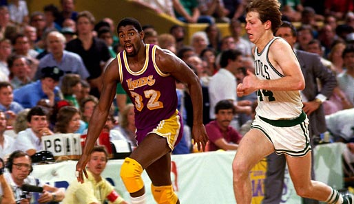 Magic Johnson at his best: Wenn die Nummer 32 ins Laufen kam, war der Showtime-Express der Lakers nicht zu stoppen