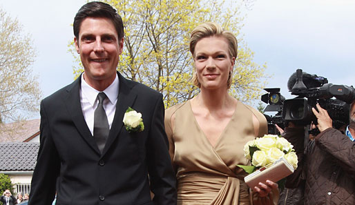 Maria Höfl-Riesch with mysterious, charming, Husband Marcus Höfl