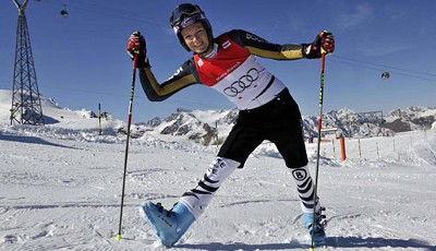 Fotoshooting in Sölden: Maria Riesch in Pose