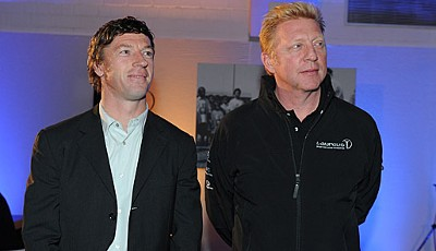Beim Mercedes-Benz Sportpresse Club sprachen Boris Becker, Klaus Allofs und U-16-Nationaltrainer Steffen Freund über die Chancen der deutschen Mannschaft bei der EM