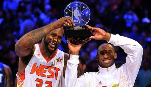 2009: Shaquille O'Neal (Phoenix Suns) und Kobe Bryant (Los Angeles Lakers)