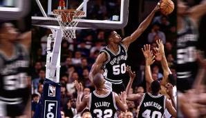 Platz 5: David Robinson - 312 Blocks in 123 Spielen - San Antonio Spurs