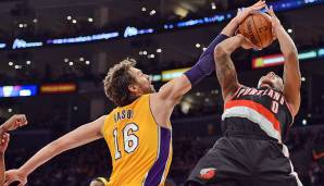 Platz 17: Pau Gasol - 217 Blocks in 115 Spielen - Memphis Grizzlies, Los Angeles Lakers, Chicago Bulls (Stand 30. April 2016)