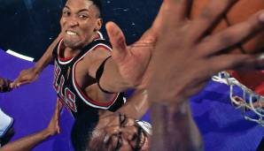 Platz 22: Scottie Pippen - 185 Blocks in 208 Spielen - Chicago Bulls, Houston Rockets, Portland Trail Blazers