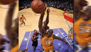 Platz 4: Shaquille O'Neal - 459 Blocks in 216 Spielen - Orlando Magic, Los Angeles Lakers, Miami Heat, Phoenix Suns, Cleveland Cavaliers, Boston Celtics