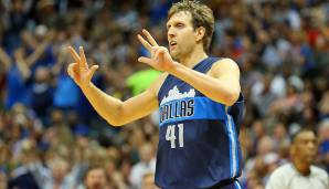 PLATZ 15: Dirk Nowitzki - 3.663 Punkte in 145 Spielen - Dallas Mavericks (Stand: 26. April 2016)
