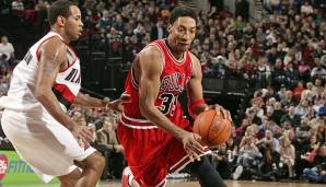 PLATZ 16: Scottie Pippen - 3.642 Punkte in 208 Spielen - Chicago Bulls, Houston Rockets, Portland Trail Blazers