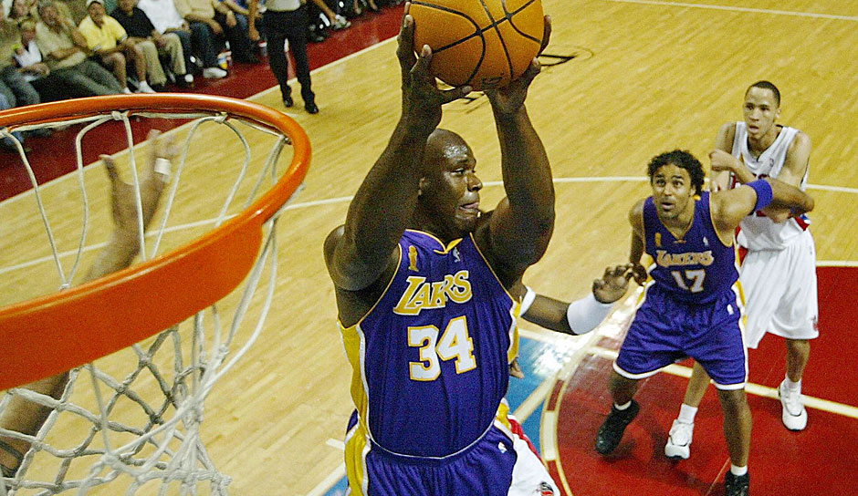 PLATZ 5: Shaquille O'Neal - 5.250 Punkte in 216 Spielen - Orlando Magic, Los Angeles Lakers, Miami Heat, Phoenix Suns, Cleveland Cavaliers, Boston Celtics