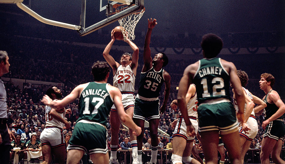PLATZ 5: Boston Celtics. Saison 1972-73, Bilanz: 68-14 - Meister: New York Knicks gegen Los Angeles Lakers (4-1)