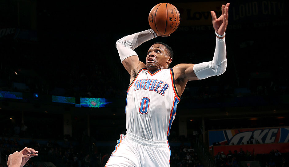 Russell Westbrook (Oklahoma City Thunder): 78,5 Punkte