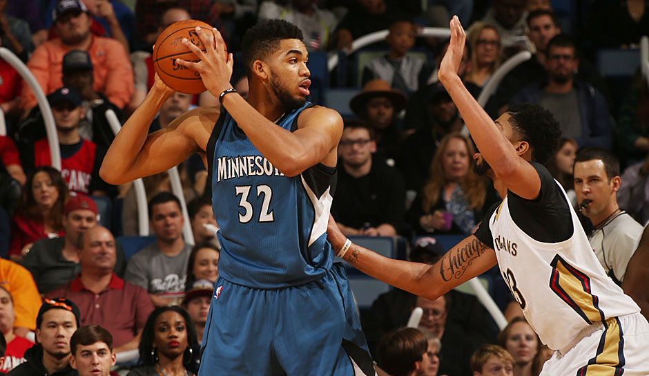 Karl-Anthony Towns (Minnesota Timberwolves): 44,5 Punkte