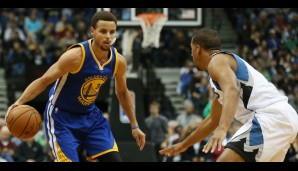 Nr. 10: GSW @ Minnesota Timberwolves 129:116 - Topscorer: Steph Curry (46)