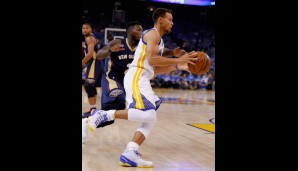 Nr. 1: GSW vs New Orleans Pelicans: 111:95 - Topscorer: Steph Curry (40)
