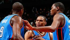 Das Trio um Serge Ibaka, Russel Westbrook und dem Maestro himself unterlag in den Conference Finals 2016 den Warriors nach 3-1 Führung