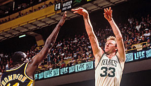 1984 bis 1986: Larry Bird (Boston Celtics)