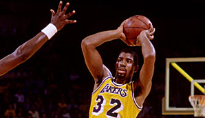 1989 und 1990 Magic Johnson (Los Angeles Lakers)