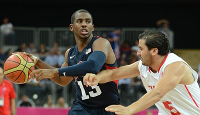 Platz 9: Chris Paul von den Los Angeles Clippers geht in London für das Dream der USA an den Start. 2011 verdiente er umgerechnet 15,7 Mio. Euro
