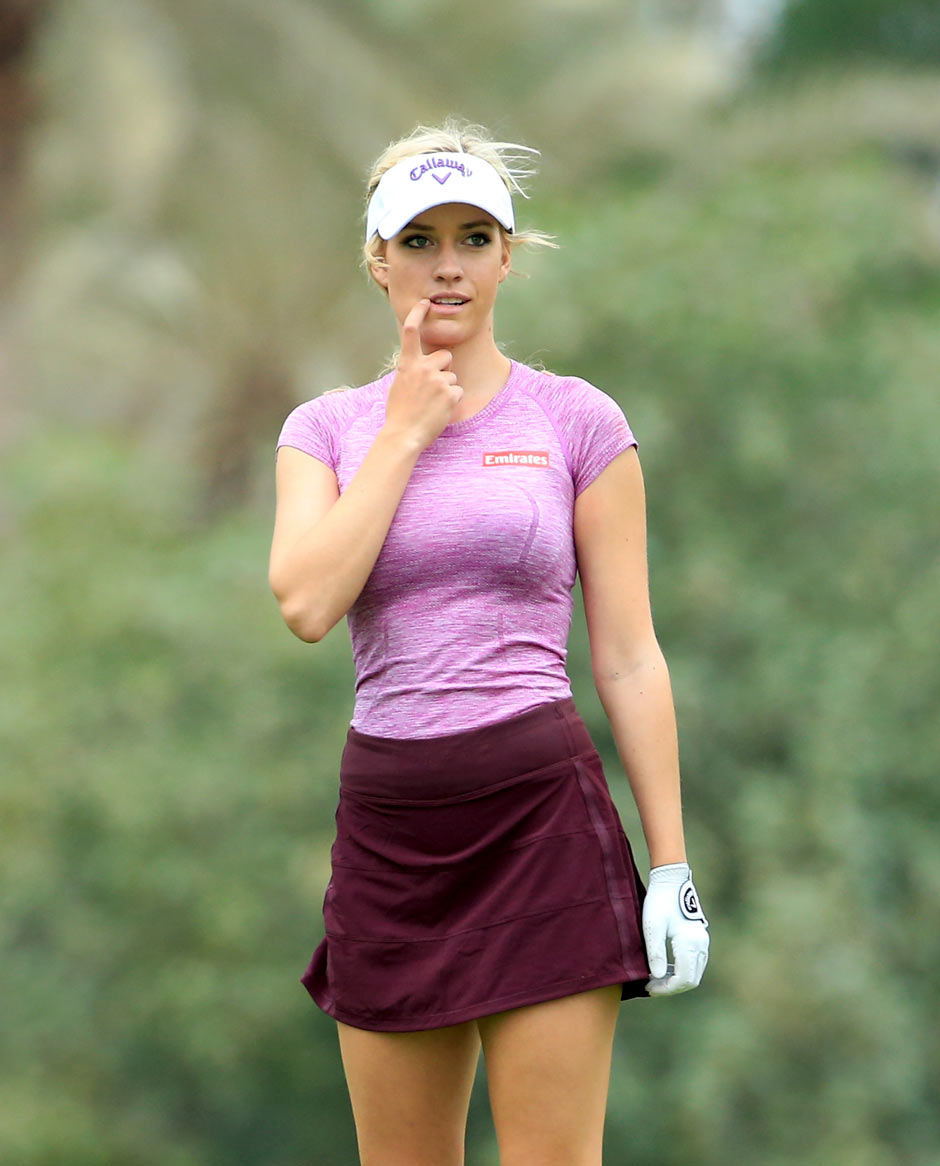 Paige beim Training vor dem Ladies Masters in Dubai