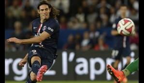 Rang 4: Edinson Cavani von Paris Saint-Germain (18 Tore)