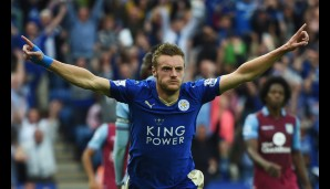 Rang 2: u.a. Jamie Vardy von Leicester City (24 Tore)