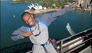 Bolt beim BridgeClimb in Sydney