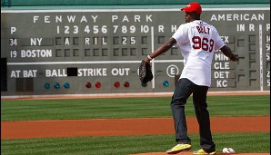 Bolt als Pitcher bei den Boston Red Sox