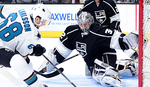 Jonathan Quick hütet in der NHL das Tor der LA Kings