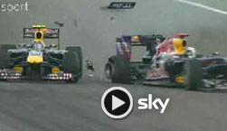 türkei-gp, red bull, sebastian vettel, mark webber, unfall, crash