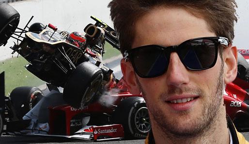 Nach seiner Kollision in Spa 2012 wurde Romain Grosjean gesperrt.