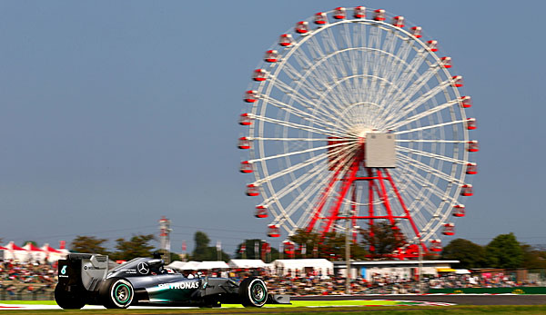 Stark: Lewis Hamilton dominierte das Training in Japan