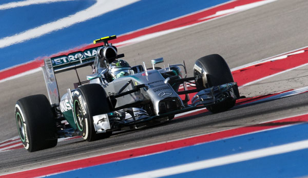 Nico Rosberg sicherte Mercedes beim Qualifying in Austin die 16. Pole Position der Saison 2014