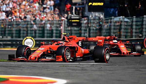 Formel 1 - Qualifying in Belgien: Charles Leclerc und Sebastian Vettel in der ersten Startreihe