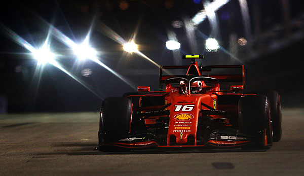 Formel 1: Charles Leclerc holt Singapur-Pole vor Lewis Hamilton und Sebastian Vettel